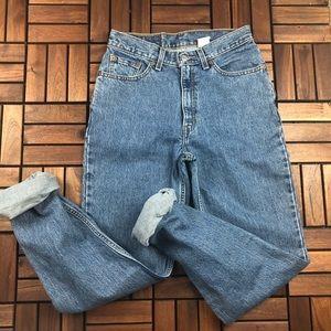 High Waist Levi's 512 Slim Fit Straight Leg Jeans